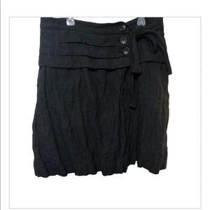 Comptoir des Cottoniers button wrap skirt
